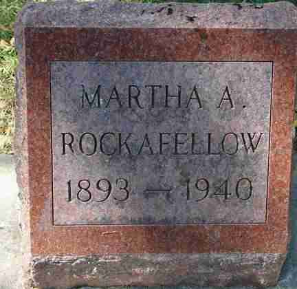 ROCKAFELLOW, MARTHA A. - Minnehaha County, South Dakota | MARTHA A. ROCKAFELLOW - South Dakota Gravestone Photos