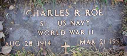 ROE, CHARLES R. (WWII) - Minnehaha County, South Dakota | CHARLES R. (WWII) ROE - South Dakota Gravestone Photos