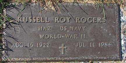 ROGERS, RUSSELL ROY - Minnehaha County, South Dakota | RUSSELL ROY ROGERS - South Dakota Gravestone Photos