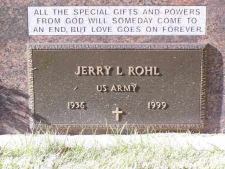 ROHL, JERRY L. - Minnehaha County, South Dakota | JERRY L. ROHL - South Dakota Gravestone Photos