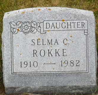 ROKKE, SELMA C. - Minnehaha County, South Dakota   SELMA C. ROKKE - South Dakota Gravestone Photos