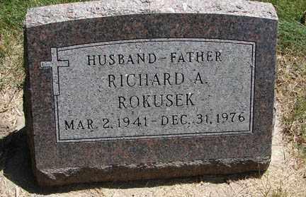 ROKUSEK, RICHARD A. - Minnehaha County, South Dakota | RICHARD A. ROKUSEK - South Dakota Gravestone Photos