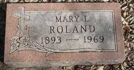 ROLAND, MARY L. - Minnehaha County, South Dakota | MARY L. ROLAND - South Dakota Gravestone Photos