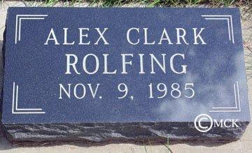 ROLFING, ALEX CLARK - Minnehaha County, South Dakota | ALEX CLARK ROLFING - South Dakota Gravestone Photos