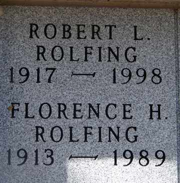 ROLFING, FLORENCE H. - Minnehaha County, South Dakota | FLORENCE H. ROLFING - South Dakota Gravestone Photos