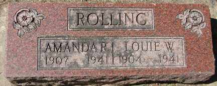ROLLING, LOUIE W. - Minnehaha County, South Dakota | LOUIE W. ROLLING - South Dakota Gravestone Photos