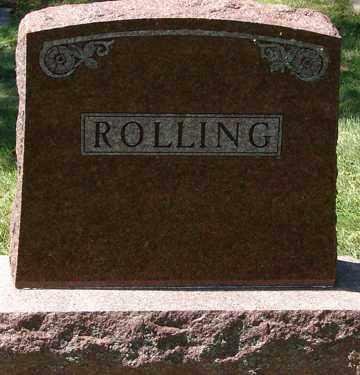 ROLLING, FAMILY MARKER - Minnehaha County, South Dakota | FAMILY MARKER ROLLING - South Dakota Gravestone Photos