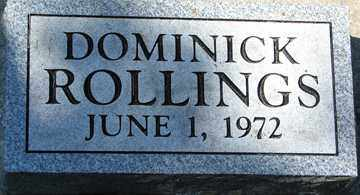 ROLLINGS, DOMINICK - Minnehaha County, South Dakota   DOMINICK ROLLINGS - South Dakota Gravestone Photos