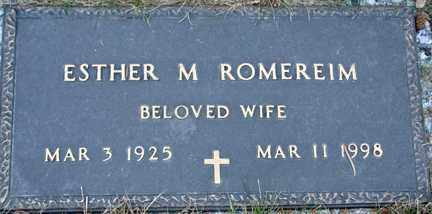ROMEREIM, ESTHER M. - Minnehaha County, South Dakota   ESTHER M. ROMEREIM - South Dakota Gravestone Photos