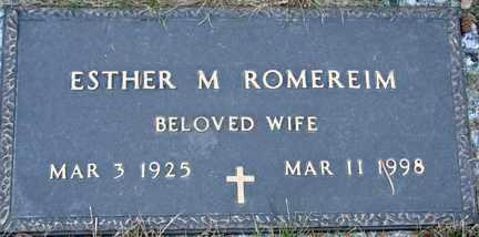 ROMEREIM, ESTHER M. - Minnehaha County, South Dakota | ESTHER M. ROMEREIM - South Dakota Gravestone Photos