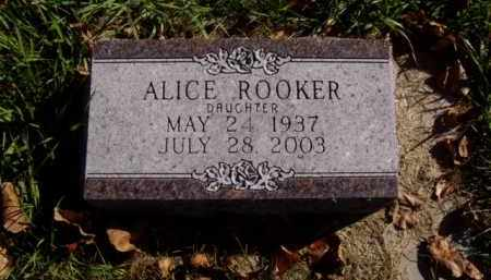ROOKER, ALICE ELAINE MAE - Minnehaha County, South Dakota | ALICE ELAINE MAE ROOKER - South Dakota Gravestone Photos