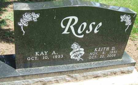 ROSE, KEITH D. - Minnehaha County, South Dakota | KEITH D. ROSE - South Dakota Gravestone Photos