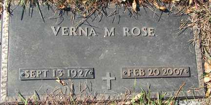ROSE, VERNA M. - Minnehaha County, South Dakota | VERNA M. ROSE - South Dakota Gravestone Photos