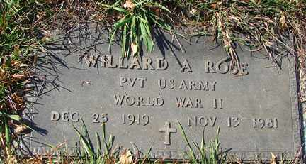 ROSE, WILLARD A. - Minnehaha County, South Dakota | WILLARD A. ROSE - South Dakota Gravestone Photos