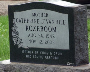 ROSEBOOM, CATHERINE J. - Minnehaha County, South Dakota | CATHERINE J. ROSEBOOM - South Dakota Gravestone Photos