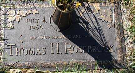 ROSEBROOK, THOMAS H. - Minnehaha County, South Dakota   THOMAS H. ROSEBROOK - South Dakota Gravestone Photos