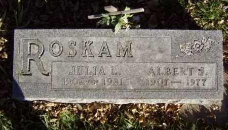 ROSKAM, ALBERT J. - Minnehaha County, South Dakota | ALBERT J. ROSKAM - South Dakota Gravestone Photos