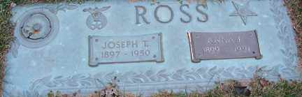ROSS, JOSEPH T. - Minnehaha County, South Dakota | JOSEPH T. ROSS - South Dakota Gravestone Photos