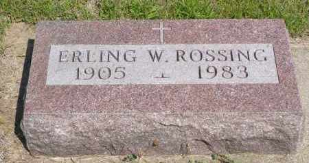 ROSSING, ERLING W. - Minnehaha County, South Dakota | ERLING W. ROSSING - South Dakota Gravestone Photos