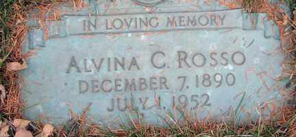 ROSSO, ALVINA C. - Minnehaha County, South Dakota | ALVINA C. ROSSO - South Dakota Gravestone Photos