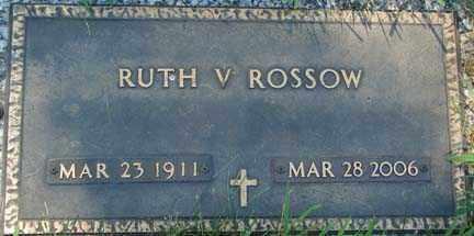 ERICKSON ROSSOW, RUTH VIOLA - Minnehaha County, South Dakota   RUTH VIOLA ERICKSON ROSSOW - South Dakota Gravestone Photos
