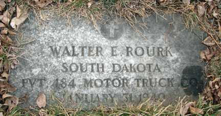ROURK, WALTER E. - Minnehaha County, South Dakota | WALTER E. ROURK - South Dakota Gravestone Photos