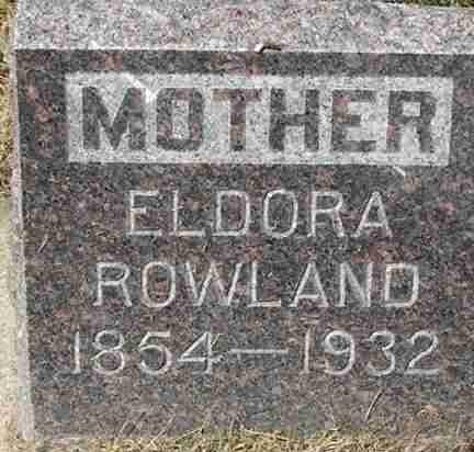 ROWLAND, ELDORA - Minnehaha County, South Dakota | ELDORA ROWLAND - South Dakota Gravestone Photos