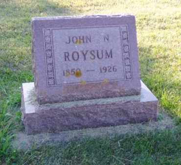 ROYSUM, JOHN N. - Minnehaha County, South Dakota | JOHN N. ROYSUM - South Dakota Gravestone Photos