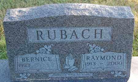 RUBACH, BERNICE - Minnehaha County, South Dakota | BERNICE RUBACH - South Dakota Gravestone Photos