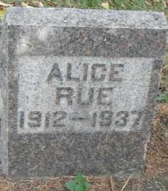 RUE, ALICE - Minnehaha County, South Dakota | ALICE RUE - South Dakota Gravestone Photos
