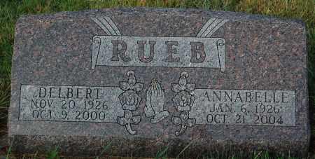 RUEB, ANNABELLE - Minnehaha County, South Dakota | ANNABELLE RUEB - South Dakota Gravestone Photos