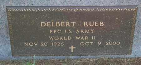 RUEB, DELBERT (WW II) - Minnehaha County, South Dakota | DELBERT (WW II) RUEB - South Dakota Gravestone Photos