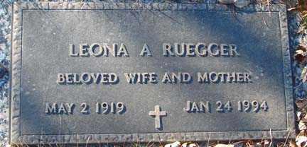 BOSCH RUEGGER, LEONA A. - Minnehaha County, South Dakota | LEONA A. BOSCH RUEGGER - South Dakota Gravestone Photos