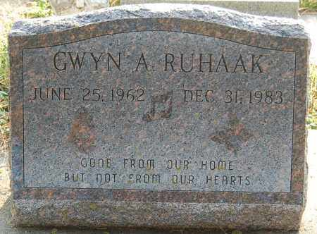 RUHAAK, GWYN A. - Minnehaha County, South Dakota | GWYN A. RUHAAK - South Dakota Gravestone Photos
