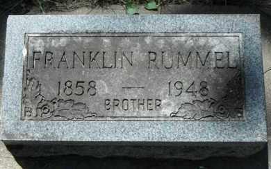 RUMMEL, FRANKLIN - Minnehaha County, South Dakota | FRANKLIN RUMMEL - South Dakota Gravestone Photos