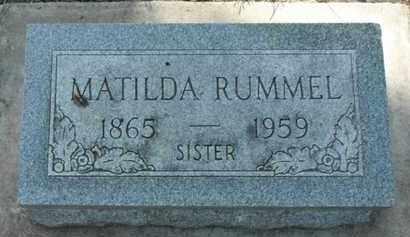 RUMMEL, MATILDA - Minnehaha County, South Dakota   MATILDA RUMMEL - South Dakota Gravestone Photos