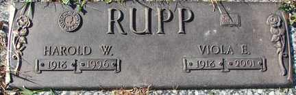 RUPP, VIOLA E. - Minnehaha County, South Dakota | VIOLA E. RUPP - South Dakota Gravestone Photos