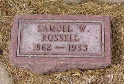 RUSSELL, SAMUEL W. - Minnehaha County, South Dakota | SAMUEL W. RUSSELL - South Dakota Gravestone Photos