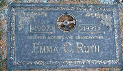 RUTH, EMMA C. - Minnehaha County, South Dakota   EMMA C. RUTH - South Dakota Gravestone Photos