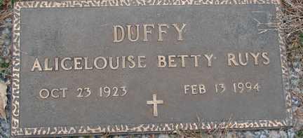 RUYS, ALICELOUISE BETTY - Minnehaha County, South Dakota | ALICELOUISE BETTY RUYS - South Dakota Gravestone Photos