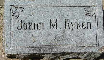 RYKEN, JOANN M. - Minnehaha County, South Dakota | JOANN M. RYKEN - South Dakota Gravestone Photos