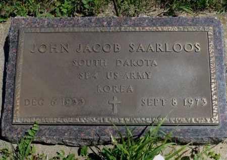 SAARLOOS, JOHN JACOB - Minnehaha County, South Dakota | JOHN JACOB SAARLOOS - South Dakota Gravestone Photos