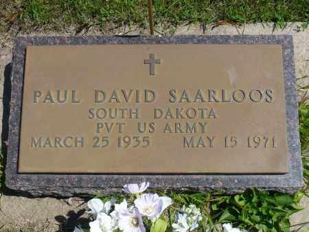 SAARLOOS, PAUL DAVID - Minnehaha County, South Dakota | PAUL DAVID SAARLOOS - South Dakota Gravestone Photos