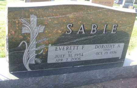 SABIE, DOROTHY A. - Minnehaha County, South Dakota | DOROTHY A. SABIE - South Dakota Gravestone Photos