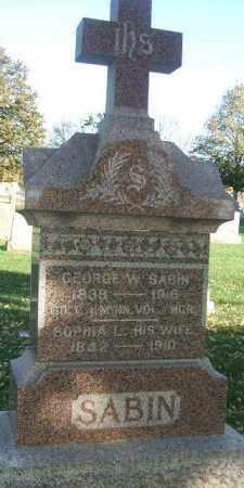 NICHOLS SABIN, SOPHIA L. - Minnehaha County, South Dakota   SOPHIA L. NICHOLS SABIN - South Dakota Gravestone Photos