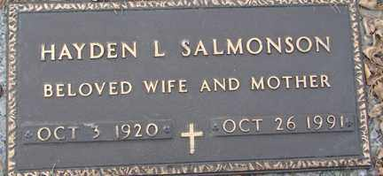 SALMONSON, HAYDEN L. - Minnehaha County, South Dakota | HAYDEN L. SALMONSON - South Dakota Gravestone Photos