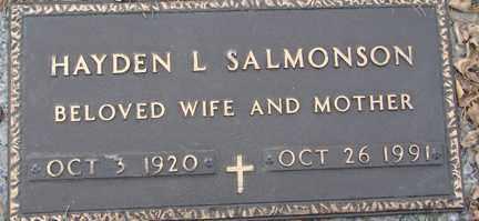 SALMONSON, HAYDEN L. - Minnehaha County, South Dakota   HAYDEN L. SALMONSON - South Dakota Gravestone Photos