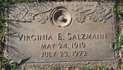 SALZMANN, VIRGINIA E. - Minnehaha County, South Dakota   VIRGINIA E. SALZMANN - South Dakota Gravestone Photos