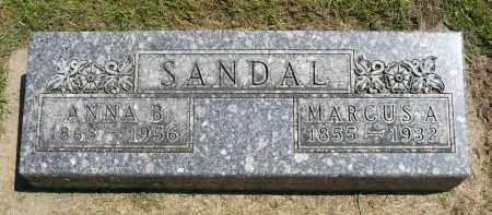SANDAL, MARCUS A. - Minnehaha County, South Dakota | MARCUS A. SANDAL - South Dakota Gravestone Photos
