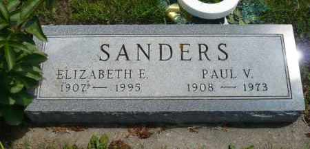 SANDERS, ELIZABETH E. - Minnehaha County, South Dakota | ELIZABETH E. SANDERS - South Dakota Gravestone Photos